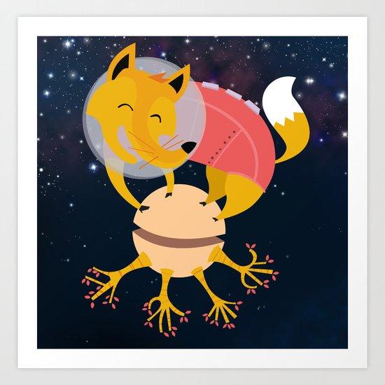 Zorrito Planetario Art Print