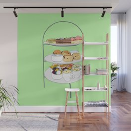 English Afternoon Tea Cakes Wall Mural