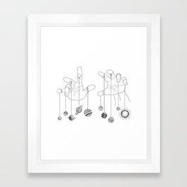 Solar System II Framed Art Print