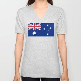 The National flag of Australia, authentic version (color & scale 1:2) Unisex V-Neck