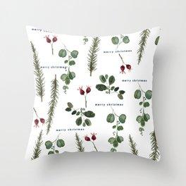 Christmas Foliage  Throw Pillow
