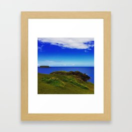 Everything Is Blue And Green Framed Art Print