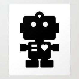 Cute Robot Art Print
