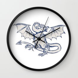 Basilisk Crowing Wall Clock