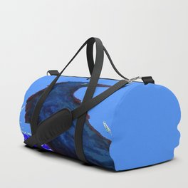 BLUE CROW WINTER SNOWFLAKE ART Duffle Bag