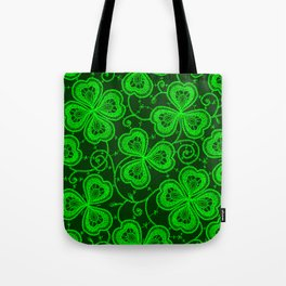 Clover Lace Pattern Tote Bag