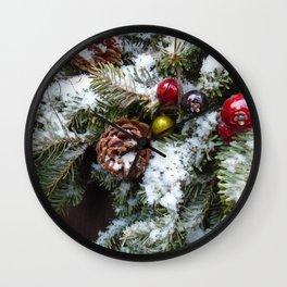 Welcome Winter Wall Clock