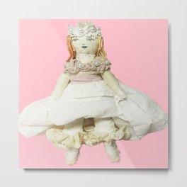 Annabelle Apricot Doll Metal Print