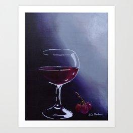 Wine-Ding Down Art Print