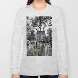 Sleepy Hollow Church Art Long Sleeve T-shirt
