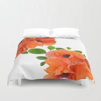 poppies Duvet Covers featuring Poppies by Heaven7