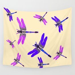 "PURPLE DRAGONFLIES ""SPRING SONG"" ART Wall Tapestry"