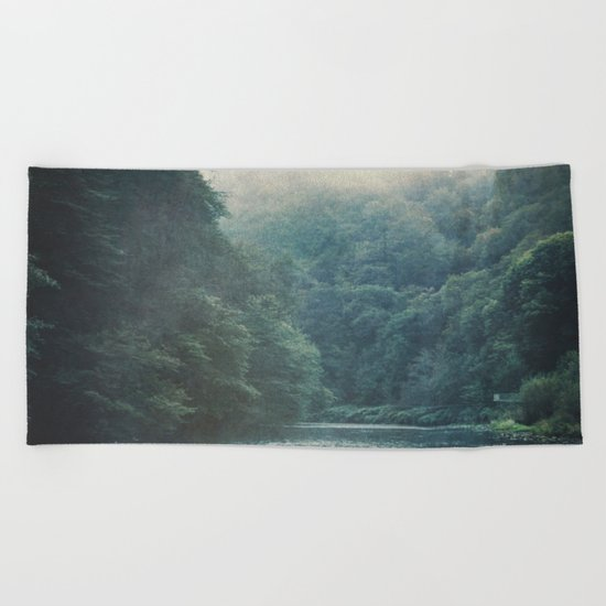 valley and river Beach Towel
