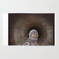 interstellar Area & Throw Rugs featuring INTERSTELLAR by zinakorotkova