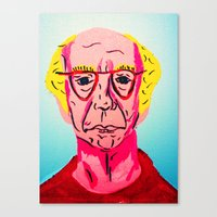 larry david Canvas Prints featuring Larry David 1 by Alyssa Underwood Contemporary Art