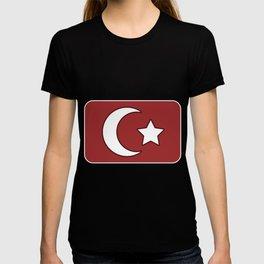 Turkish flag star crescent turkey poison T-shirt