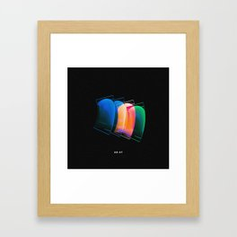 banana neon clips Framed Art Print