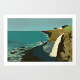 The Coast of California Art Print