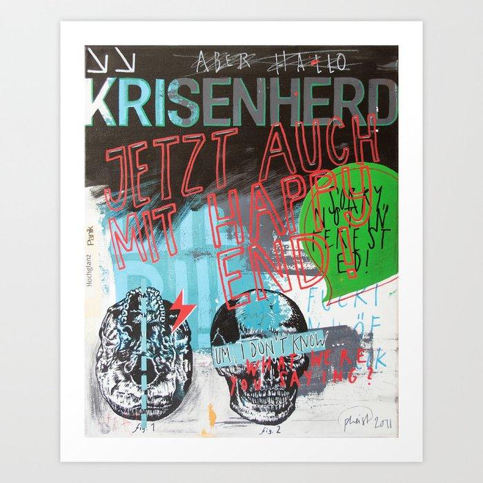 Krisenherd Art Print