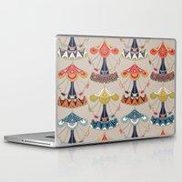 damask Laptop & iPad Skins featuring carousel damask by Sharon Turner