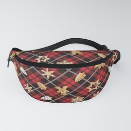 Gingerbread Red Fanny Pack