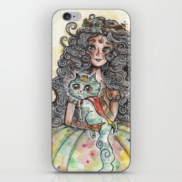 Lady and Cat iPhone Skin