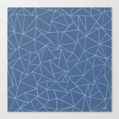 Ab Outline Blues Canvas Print