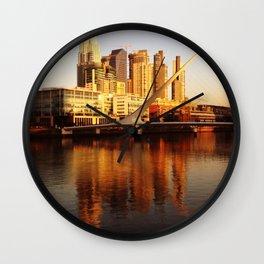 Puente de la Mujer, Puerto Madero Wall Clock