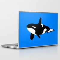 orca Laptop & iPad Skins featuring Orca by Whimsy Notions Designs