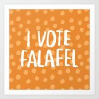 I Vote Falafel Art Print