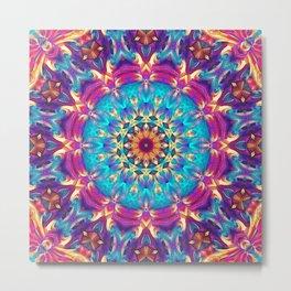 Flower Of Life Mandala (Cosmos) Metal Print