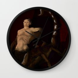 scorpio horror zodiac sign Wall Clock