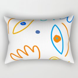 Portrait of a cheerful clown Rectangular Pillow