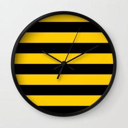 Bee pattern Wall Clock