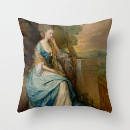 """Thomas Gainsborough """"Portrait of Anne, Countess of Chesterfield"""" Throw Pillow"""