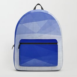 Imperial Lapis Lazuli - Triangles Minimalism Geometry Backpack