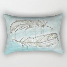 Feathers and memories Rectangular Pillow