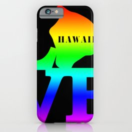 Hawaii Pride USA State Love Map iPhone Case