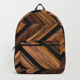 Urban Tribal Pattern 3 - Wood Backpack