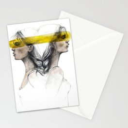 Twins sisters soulmates Stationery Cards