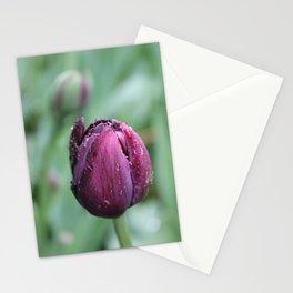 Purple tulip Stationery Cards
