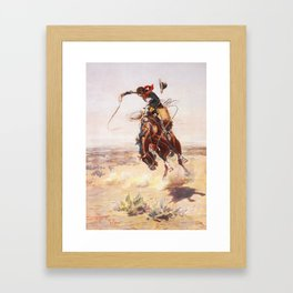A Bad Hoss Charles Marion Russell Framed Art Print