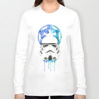 storm trooper Long Sleeve T-shirts featuring Storm Trooper by Leigh Roundy