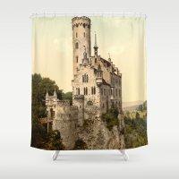 lichtenstein Shower Curtains featuring Lichtenstein Castle by BravuraMedia