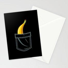 Banana In Pocket Stationery Cards