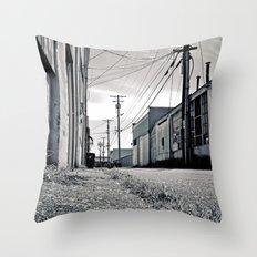 Old urban alley Throw Pillow