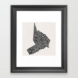 Fairfield County Map Framed Art Print