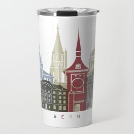 Bern skyline poster Travel Mug