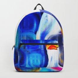 Vibrant Seagull Portrait Backpack