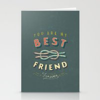 best friend Stationery Cards featuring Best Friend by Seaside Spirit